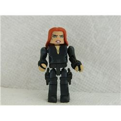 MINI FIGURE - BLACK - WITH 2 GUNS & HOLSTERS