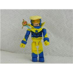MINI FIGURE - BLACK - YELLOW & BLUE