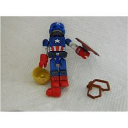 MINI FIGURE - CAPTAIN AMERICA - WITH SHIELD, EXTRA HAIR & HAND
