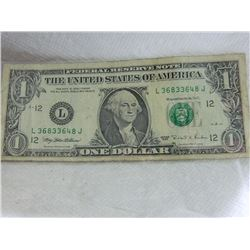 PAPER NOTE - USA - $1 - 1995  - as-is
