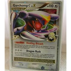 POKEMON COLLECTOR CARD IN PROTECTIVE SLEEVE - GARCHOMP C LV.X HOLO - DP46