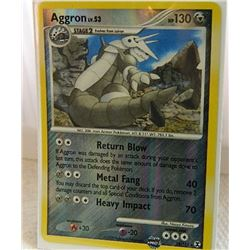 POKEMON COLLECTOR CARD IN PROTECTIVE SLEEVE - AGGRON LV.53 REVERSE HOLO - 14/111