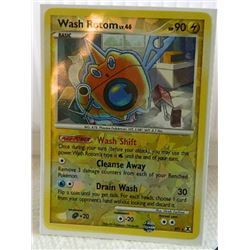 POKEMON COLLECTOR CARD IN PROTECTIVE SLEEVE - WASH ROTOM LV.46 HOLO - RT5