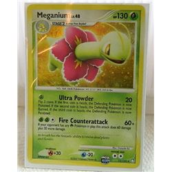 POKEMON COLLECTOR CARD IN PROTECTIVE SLEEVE - MEGANIUM LV.48 HOLO- 13/123