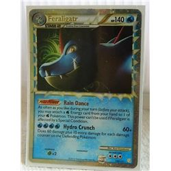 POKEMON COLLECTOR CARD IN PROTECTIVE SLEEVE - FERALIGATR STAGE 2 SUPER RARE HOLO - 108/123
