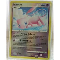 POKEMON COLLECTOR CARD IN PROTECTIVE SLEEVE - MEW BASIC REVERSE HOLO - 15/132