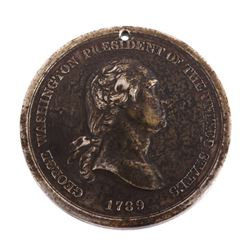 1789 George Washington Indian Peace Medal - Silver