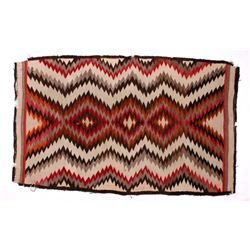 Navajo Old Crystal Eye Dazzler Trade Rug c. 1900