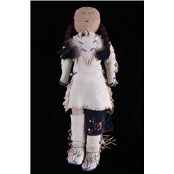 Early Plains Native American Indian Beaded Doll