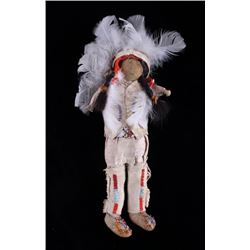 Plains Native American Indian Beaded Doll c. 1900-