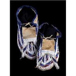 Sioux Moccasins 19th C. Sheriff Happy Jack Allen