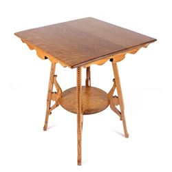 Early Quarter Sawn Oak Larry F. Nonnast Game Table