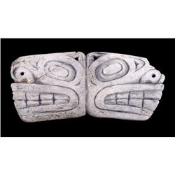 Tlingit Soul Catcher Bone Amulet 19th Century RARE