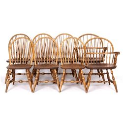 Early Windsor Back Nichols & Stone Chairs (8)