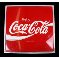 Original Coca-Cola Lighted Advertising Sign Panel