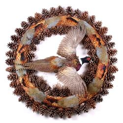 Excellent Flying Pheasant Wreath Mount