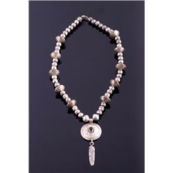 Navajo Sterling Silver Coin Necklace