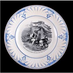 c.1850 California Gold Rush Plate from France