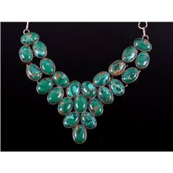 Early Taxco Sterling Silver Turquoise Necklace