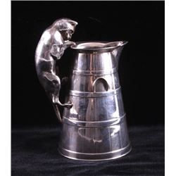Reed & Barton Gilt Silver Cat Pitcher