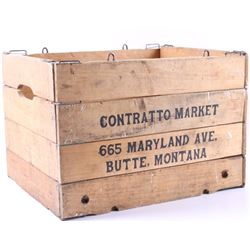 Contratto Market Folding Wooden Crate