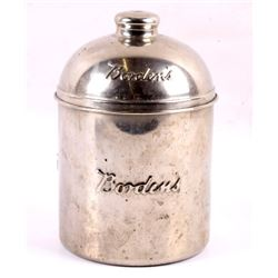 Classic Embossed Borden's Malted Milk Canister