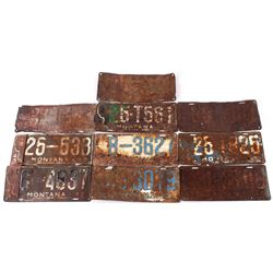 Collection of Montana License Plates 1940 - 1946