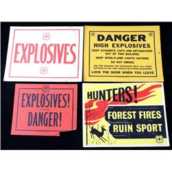 Collection of Paper Forest Service Signs