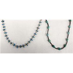 2 Navajo Turquoise & Heishi Necklaces