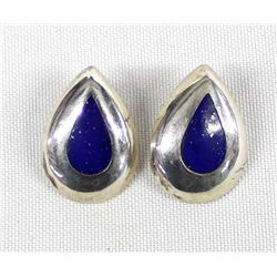 Sterling Holloware Lapis Earrings