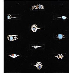 10 Native American Sterling Silver Rings