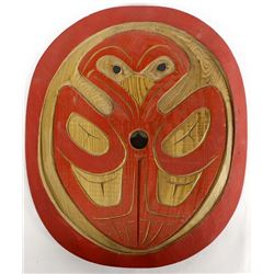 Squamish Salish Carved Wood Spindle Whorl, Charlie