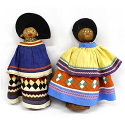 2 Native American Seminole Dolls