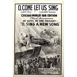 1934 Chicago World's Fair Sheet Music