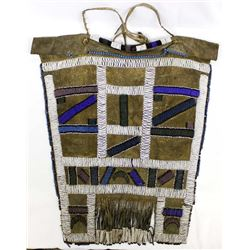 Antique African Beaded Leather Breastplate