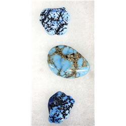 3 Turquoise Cabochons