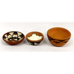 3 Pieces of Native American Pottery Miniatures
