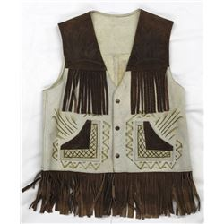 Mexican Fringed Leather Vest