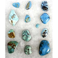 13 Assorted Turquoise Cabochons