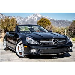 2009 MERCEDES BENZ SL550 CONVERTIBLE