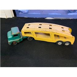 NO RESERVE ANTIQUE METAL TOY TRUCK AND TRAILER