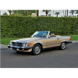1987 MERCEDES BENZ 560SL GOLD
