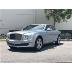 FRIDAY 2012 BENTLEY MULSANNE