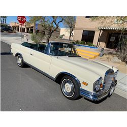 SATURDAY FEATURE 3:00 PM 1969 MERCEDES 280 SE CABRIOLET