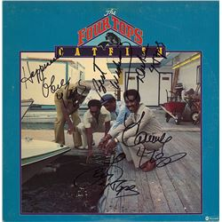 "Four Tops Band Signed ""Catfish Album"""
