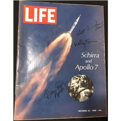 Apollo 7 Crew Signed 1968 Life Magazine