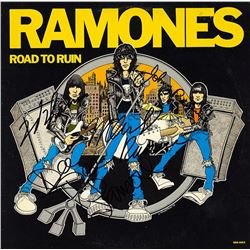 "The Ramones ""Road To Ruin"" Signed Album"