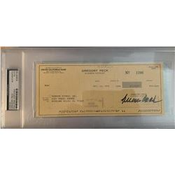 PSA/DNA Gregory Peck Signed Check