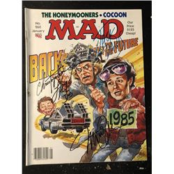 Back to the Future Cast   Signed Mad Magazine