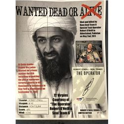 Commemorative Print Signed by Navy Seal who Shot Osama Bin Laden